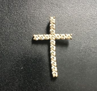 Gold plated sterling silver cross