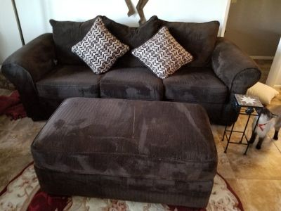 Brown couch/sofa bed