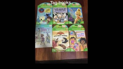 Lot of 6 New Leap Frog Tag reading books