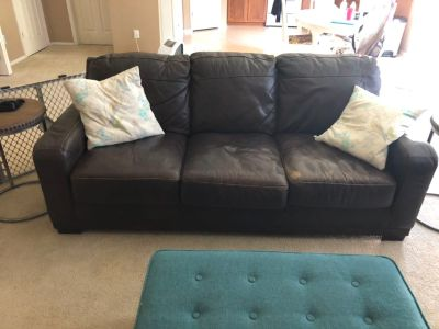 Ashley furniture leather couch.
