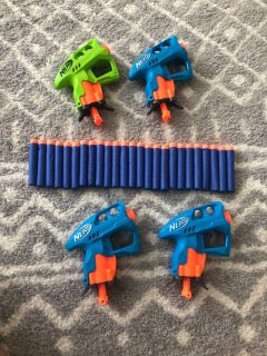Handheld NERF Guns with Bullets