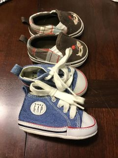Two Pairs of Shoes Baby Gap and Gymboree Size 1