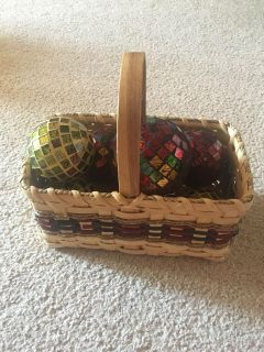 Decor basket and globes all for $20