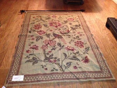 52 x 72 Flower Tapestry with hanging rod and hardware