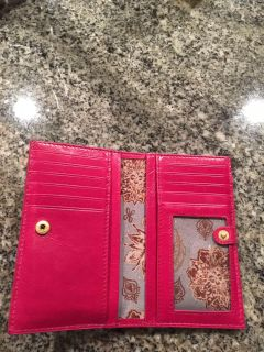 New Hobo Pink Soft Leather Wallet