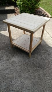 Unfinished farm house end table