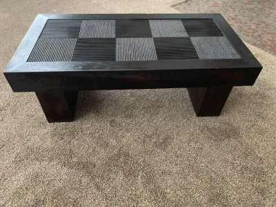Dark Brown coffee table / shows some wear