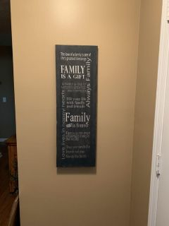Family Distressed Canvas Picture
