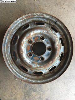 [WTB] 1963 Lemmerz 5x130 Porsche Steel Non Chromed Wheel