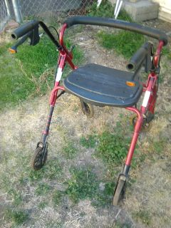 Rolling walker and seat