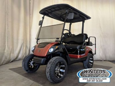 2013 Yamaha Gas Carb Golf Cart STREET READY, Copperhead Orange & Black