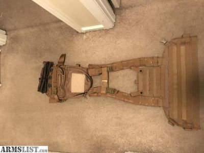 For Sale: Plate carrier with pack and dump pouch