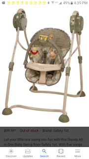 Safety 1st Disney All-in-One Baby Swing