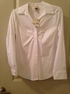 Long sleeve professional white top