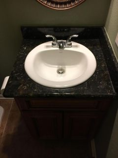Bathroom Counter, Vanity and Accessories.