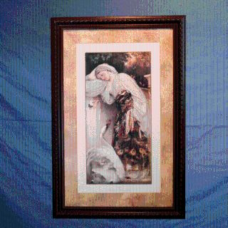 LARGE BEAUTIFUL FRAMED PAINTING ODALISQUE by FREDERIC LEIGHTON