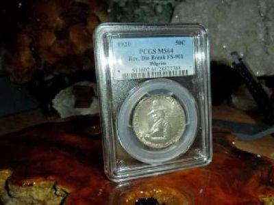 Very Rare 1920-P Pilgrim Commemorative Silver Half Dollar PCGS MS 64 Reverse Die