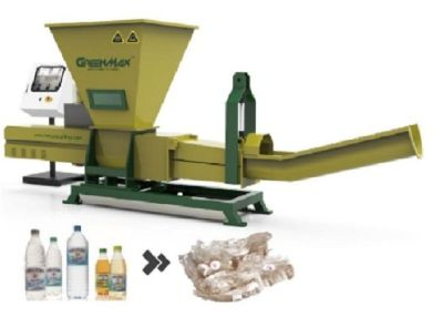 PET Bottles Recycling With GREENMAX Poseidon Series De Watering Machine