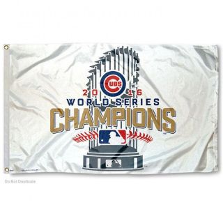 Cubs 2016 World Series Champions Flag