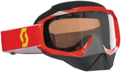 Buy Scott Hustle Red Snocross Goggle W/ACS Dual Pane Rose Lens Snowmobile Snow Ski motorcycle in Longview, Washington, United States, for US $39.99