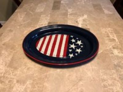 Fourth of July decorative plate