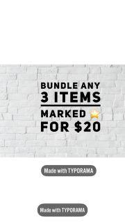 3/$20 Poshmark Closet Sale!