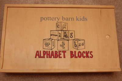 Pottery Barn Kids Alphabet Blocks New - Retails for $54 tax