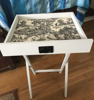 Drawer Table with Toile Insert