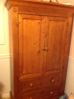 Gorgeous armoire and crib(coverts to toddler bed with rails to full size headboard and footboard)