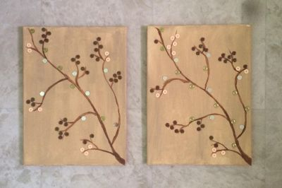 Set of two canvas paintings