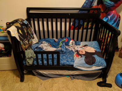Convertible crib/ toddler bed plus mattress