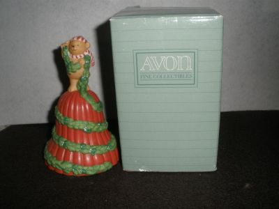 """1991 AVON Christmas Fine Collectibles Bell """"GARLAND OF GREETINGS"""""""