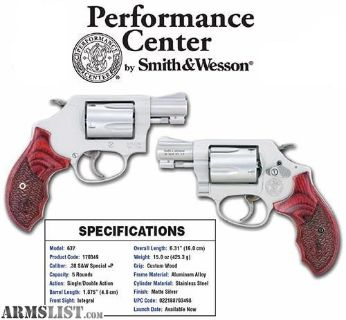 For Sale: New in box Smith & Wesson 637 Performance Center .38spl