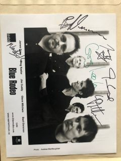 Signed Blue Rodeo photo