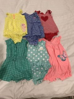 6/9 month rompers