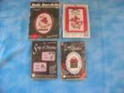 Lot-4 Christmas Cross Stitch Kits, Designs For The Needle