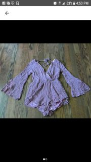 Beautiful Rose Colored Romper Size Small