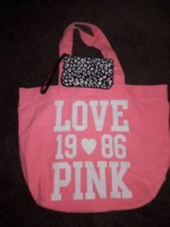 Victoria's Secret Pink tote and wristlet