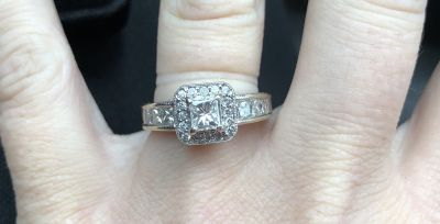 1ct white gold engagement ring