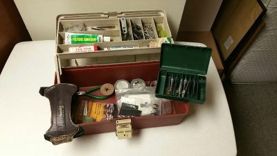 Bow Accessories + Plano Tackle Box - Brodheads, Razors, Noc Pliers, Practice Points, Fletching Adhesive