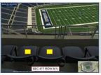 Dallas Cowboys vs Jaguars Tickets.....Front Row 125