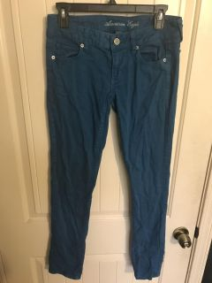 American Eagle teal jeans