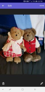 PRACTICALLY BRAND NEW VINTAGE HIS AND HER STUFFED COKE A COLA BEARS