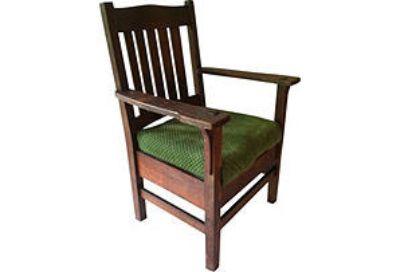 Antique Mission Oak Arm Chair J.M. Young 1910