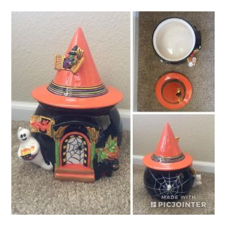 Ceramic Halloween Candy Bowl with Lid