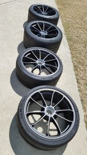 991.2 GT3 OEM wheels in satin black - excellent condition