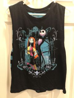 Disney s Nightmare Before Christmas Tank Juniors SZ L Great Condition!