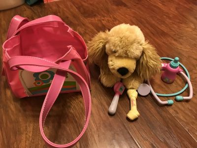 Barbie puppy dog and vet toys - dog barks