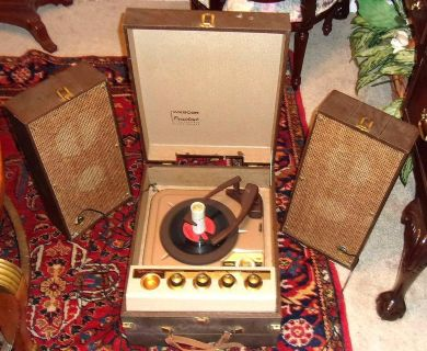 Vintage Webcor President Suitcase Record Player Stereo
