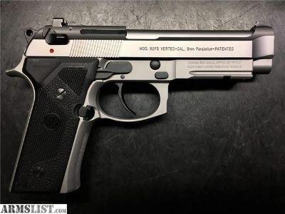 For Sale: Beretta 92 Vertec Inox 2002 production Mint .01